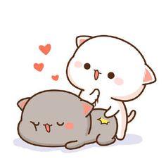 Barxa y xole wal naglen ema 😂 Gato Anime, Anime Cat, Chibi Cat, Cute Chibi, Gif Lindos, Cat Couple, Cat Icon, Amor Animal, Memes Funny Faces