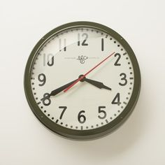 """Schoolhouse Electric Clock 17.5""""   Schoolhouse Electric & Supply Co."""