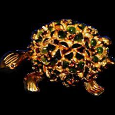 For sale at Retrophoria.com, $75.00 - Gold Tone with multi colored stones