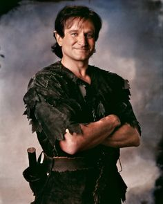 Robin Williams as Peter Pan in the movie Hook. It may not have done so well as far as ratings but who cares :)
