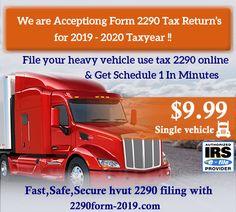 Best Online Tax Filing 2020.14 Best Form 2290 2019 Images