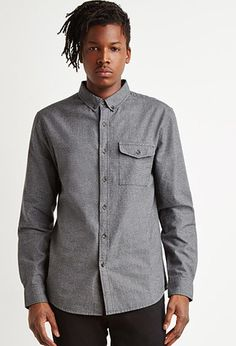 Textured Woven Pocket Shirt