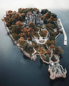 Boldt Castle is known as the castle that love built on an island aptly-called Heart. It's a century-old tragic love story that has attracted millions of visitors to Boldt Castle near Alexandria Bay N. in the world famous 1000 Islands every year. Beautiful Castles, Beautiful Places, Wonderful Places, Places To Travel, Places To See, Photos Voyages, Drone Photography, Photography Ideas, Travel Photography