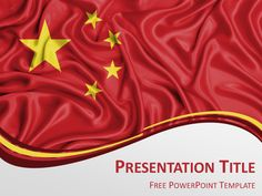 Russia flag powerpoint template presentationgo russia flags free powerpoint template with flag of china background toneelgroepblik Choice Image