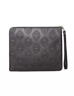 Skull leather clutch $149