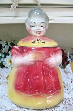 Granny Cookie Jar American Bisque