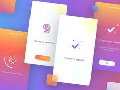 Payment Mobile App. -Fingerprint (login) -Fingerprint (setup)