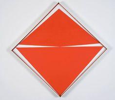 [Carmen Herrera (b. 1915, Cuba). Untitled (Red and White). 1966. Acrylic on canvas. 24.6 x 24.6 inches. Photo: Oriol Tarridas] Art, Contemporary Art, Geometric Art, Cuban Art