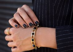 aimee_song_song_of_style_marble_pyramid_bracelet_black_marble_nails