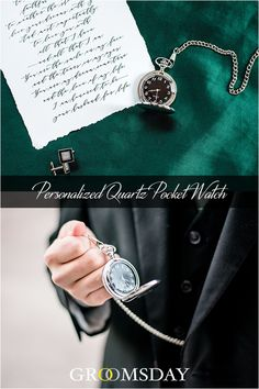 This Personalized Pocket Watch is a groomsmen gift of sophistication, distinction and culture any gentleman can celebrate. A unique and refined piece, crafted in a brushed silver finish and custom etched with initials. Wedding Groom, Wedding Tips, Summer Wedding, Wedding Favors, Best Groomsmen Gifts, Groomsman Gifts, Best Gifts For Men, Gifts For Her, Personalized Pocket Watch