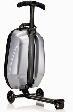 You know what would make this world a better, more livable place? More scooters. If I were in charge, there would be scooters on everything. Everything, I say! The Micro Samsonite is a good start. It combines the popular, yet seldom overlapping, worlds of luggage and transport.