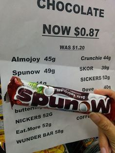 The person who priced this delicious bar of Spunow is an idiot lol