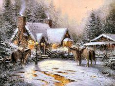 Christmas Welcome by Thomas Kinkade