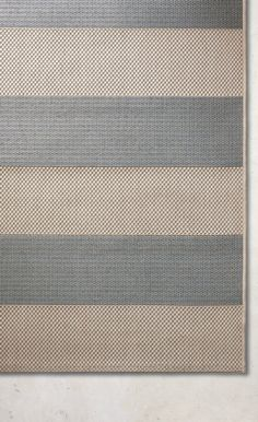 Use our Resort Stripe Indoor/Outdoor Rug to enliven your outdoor space with bold, balanced colors and design that beautifully accents any furniture collection. The easy-care, flat-weave rug is loomed of 100% fine-spun polypropylene, a fiber legendary for its endurance. Adds warmth underfoot in cooler temperatures and relief from hot surfaces in summer.