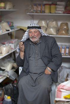 Hebron shopkeeper . Israel