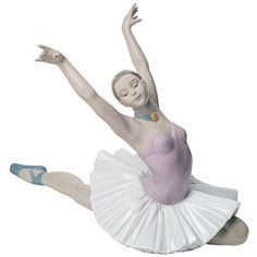 """Nao The Art of Dance 12 1/4"""" Wide Porcelain Sculpture (£160) ❤ liked on Polyvore featuring home, home decor, sculpture, porcelain sculpture, ballerina sculpture, handmade home decor and spanish home decor"""