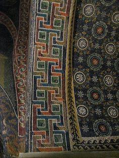 Detail of mosaics in Ravenna church