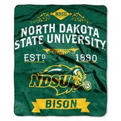 """North Dakota State OFFICIAL Collegiate, """"Label"""" 50""""x 60"""" Raschel Throw by The Northwest Company"""