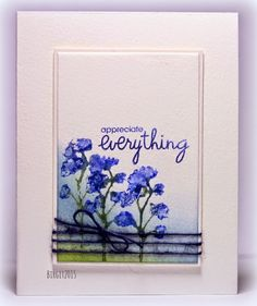 Report of a desk. Birgit's card using Paper Smooches stamp sets Botanicals and Group Hugs.
