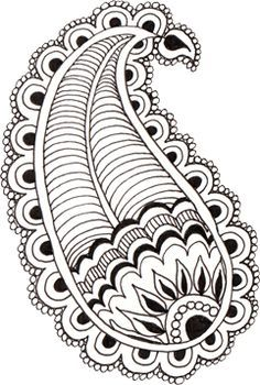 Easy to Draw Zentangle Patterns Beginners paisley Mandala Art, Easy Mandala Drawing, Paisley Drawing, Paisley Doodle, Zentangle Drawings, Doodles Zentangles, Easy Patterns To Draw, Easy Zentangle Patterns, Art Patterns