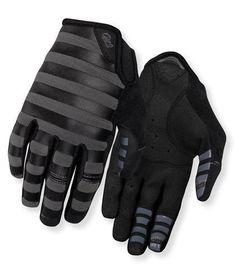 0659c59e2 Giro La DND Full Finger Mountain Bike Gloves Black Charcoal Stripes Women  Small