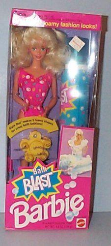 Bath Blast Barbie with Blue Bath Fashion Foam