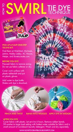 Tie Dye Swirl Technique using Tulip One-Step Tie Dye!