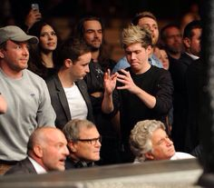 Niall Horan at UFC Fight Night London: Gustafsson vs Manuwa held at The O2 March 8th, 2014.