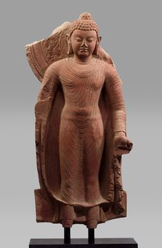 Buddha, late 5th century. India (Uttar Pradesh, Mathura). The Metropolitan Museum of Art, New York. Purchase, Enid A. Haupt Gift, 1979 (1979.6) | This Buddha image embodies the qualities of radiant inner calm and stillness, the products of supreme wisdom. As the summation of stylistic development in a period of Buddhist expansion, this representation became the benchmark for the Buddha image throughout Asia. #OneMetManyWorlds