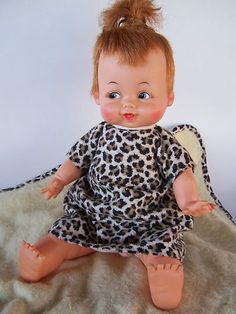 1963 Ideal Toy ~ Pebbles Flintstone Doll. This was the last doll I got as a little girl. I thought she was so fun!!!!