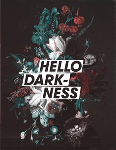 """Hello Darkness"" Stretched Canvas by Hans Eiskonen on Society6."