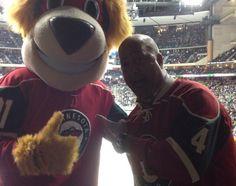 Lets Play Hockey!!! I had the huge honor of kicking off a Minnesota Wild hockey game.