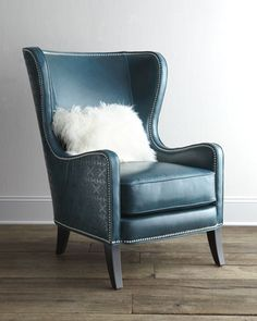 """Glenmore"" Wing Chair by Massoud at Horchow. This is a great comparison of hi-lo with the Z-Gallerie we love so much!  This one is $3139!"