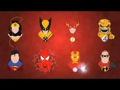 Superhero Icons #bigbomb13 #superman # batman #aftereffect