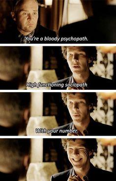 "Sherlock giving some ""friendly advice"" to Mary's ex, David."