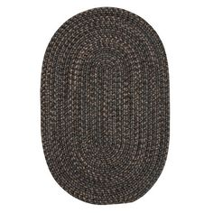 Loon Peak Abey Charcoal Area Rug Rug Size: Oval Runner 2' x 10'