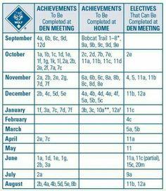 cub scout planning calendar