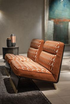 Paola Navone. Soft leather and 70s style