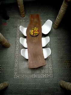 Dining : Riad in the the ancient Medina in Essaouira Home Interior, Interior Architecture, Interior And Exterior, Design Hotel, House Design, Wood Furniture, Furniture Design, Vintage Furniture, Furniture Styles