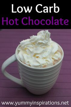 Low Carb Hot Chocolate Recipe How To Make Keto Friendly Creamy Hot Chocolate with heavy cream and dark chocolate. Low Carb Hot Chocolate Recipe How To Make Keto Friendly Creamy Hot Chocolate with heavy cream and dark chocolate. Low Carb Sweets, Low Carb Desserts, Low Carb Recipes, Real Food Recipes, Atkins Desserts, Dessert Recipes, Frosting Recipes, Diabetic Recipes, Dessert Ideas