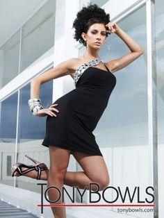 Tony Bowls 2012 Black Short Prom Dress 11283   Promgirl.net