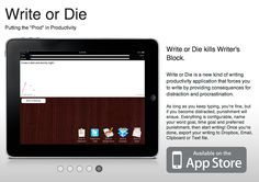 How to use write or die productivity app: http://lisaangelettieblog.com/get-writing-done-write-die-productivity-application/