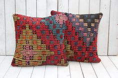 TURKISH KILIM CUSHION SET OF TWO, GIFTS UNDER 50$, GIFTS