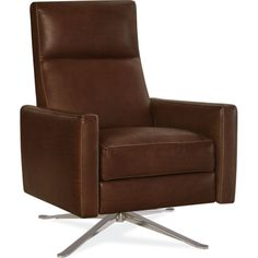 Relaxor Swivel in Stadler Toffee Leather - Lee Industries, Trade-Only (SKU: Lee Industries, Swivel Recliner, Indoor Outdoor Furniture, Furniture Showroom, Interior Architecture, Armchair, Interior Decorating, Leather, Usa