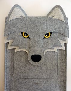 Wolf iPad Pro felt case by BoutiqueID on Etsy