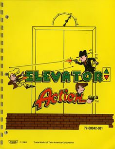 """#TBT to Taito America Corp.'s 1983 """"Elevator Action,"""" covered by Dr. Lee Gray in our March issue! #Nintendo #Wii #elevator"""