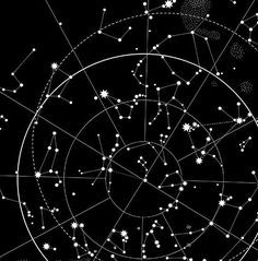 This detailed hand-printed celestial map showcases the night sky and its constellations in all their glory. Perfect for star spotting around the campfire. White