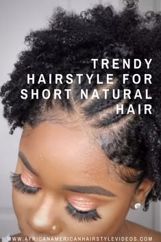 TRENDY Hairstyle For Short Natural Hair | Stretched Finger Coil On 4c/b Natural Hair African Braids Hairstyles, Protective Hairstyles, Trendy Hairstyles, Braided Hairstyles, Black Hairstyles, Protective Styles, Natural Hair Styles, Short Hair Styles, Flat Twist