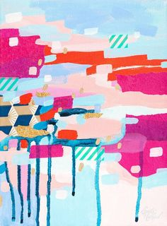 We're super-big fans of artist Emmy Rickard's super-affordable abstract prints. #etsy
