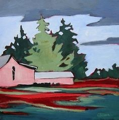 Daily Painting Fleeting Farm, painting by artist Carolee Clark